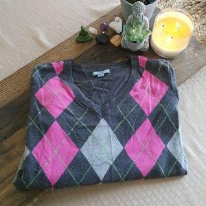 Izod Lacoste Argyle Sweater 🌷